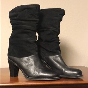 Markon Black Heeled Boots